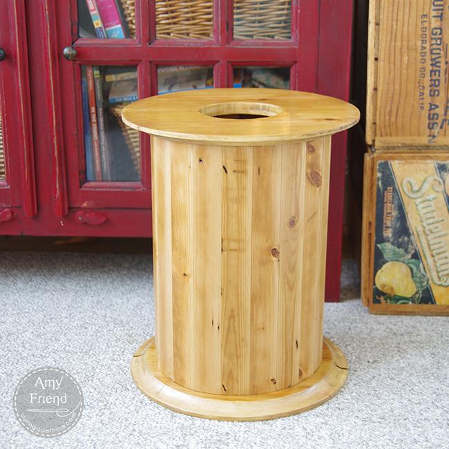 Spool Wastebasket
