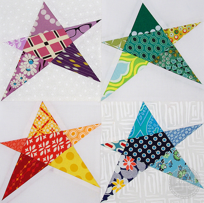 Confetti star block free pattern during quiet time for Modern house quilt block