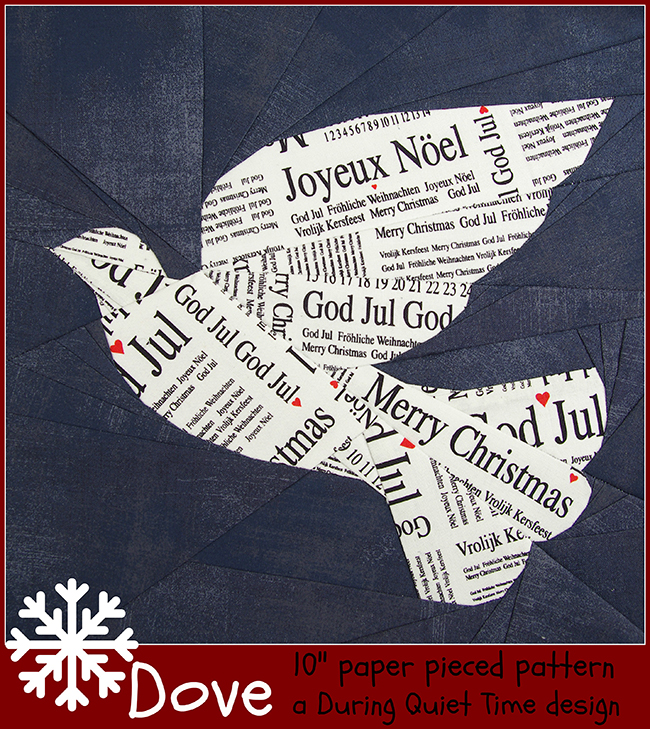 Dove pattern cover