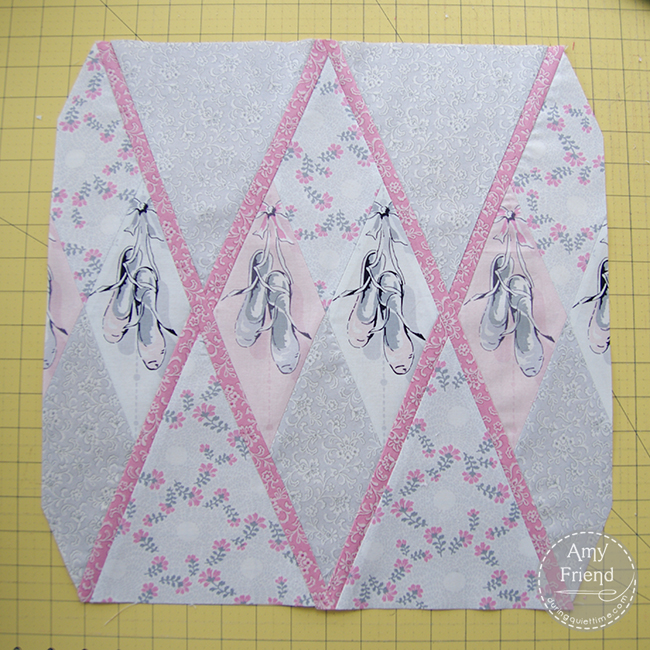 Ballerina Argyle Pillow step 7