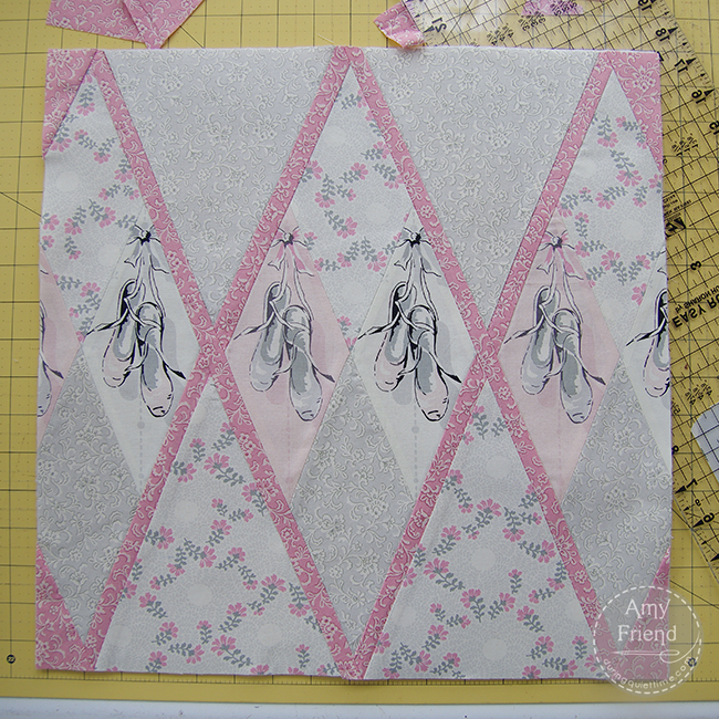 Ballerina Argyle Pillow step 8