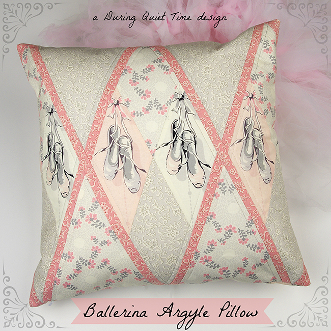 Ballerina Argyle Pillow Cover