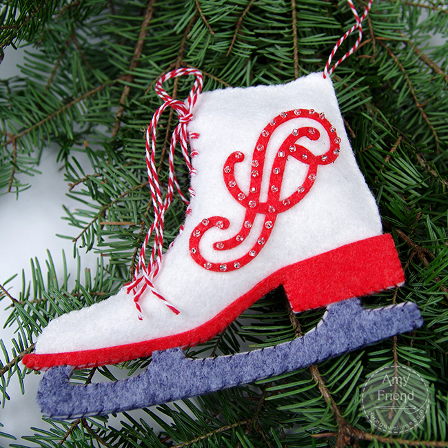 Iceskate Ornament