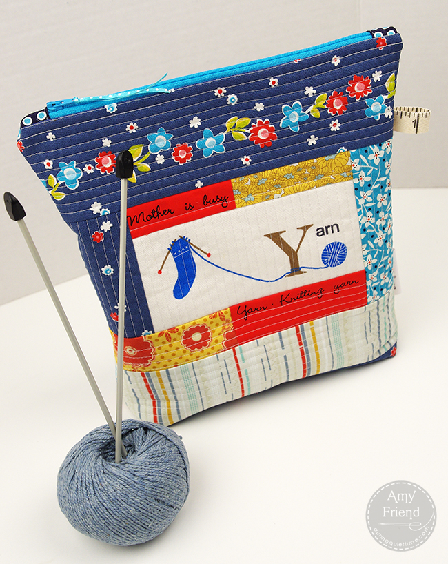 Knitting Project Bag Sewing Pattern : Knitting Project Bag Tutorial During Quiet Time
