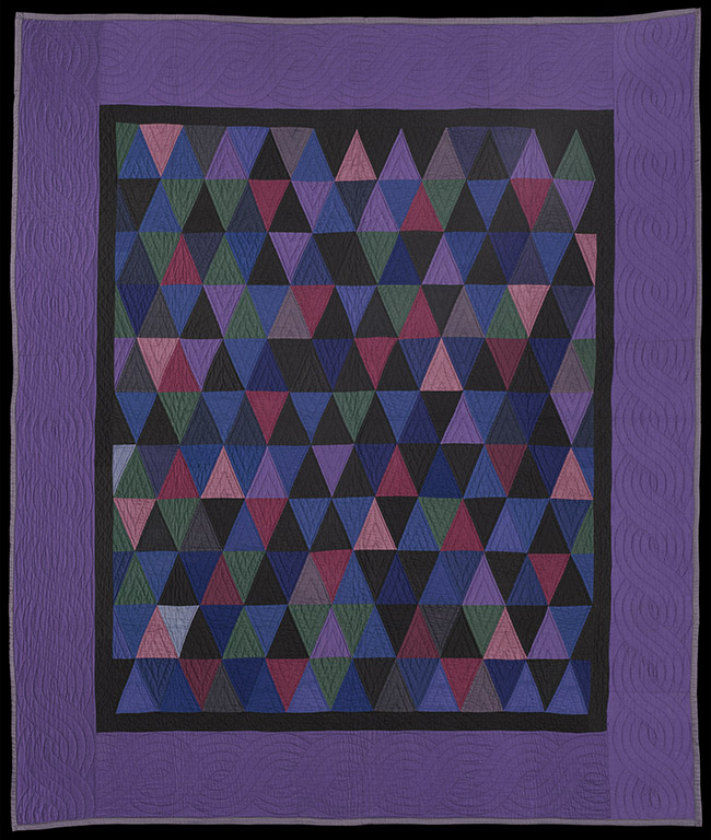 Quilt about 1930 Wool and cotton plainweave and twill; pieces and quilted * Museum purchase with funds donated by Hanne and Jeremy Grantham, Jane and Robert Burke, an anonymous donor, Jane Pappalardo, Lynne and Mark Rickabaugh, Carol Wall, Heidi Nitze, Ruth Oliver Jolliffe, and Mrs. Robert B. Newman, and funds by exchange from anonymous gifts, a Bequest of Miss Ellen Starkey Bates, William Sturgis Bigelow Collection, Gift of the Estate of Annie B. Coolidge, Gift of Mrs. John Dane, Gift of Louis H. Farlow, Alfred Greenough Collection, Gift of M. M. Greer, Gift of Mrs. Chester A. Hoefer, James Fund, Gift of Dr. and Mrs. Harold Karlin, Gift of Miss Mildred Kennedy, Gift of Francis Stewart Kershaw, Gift of Mrs. Bliss Knapp, Gift of Mathias Komor, The Elizabeth Day McCormick Collection, Gift of Miss Louise M. Nathurst, Gift of Mrs. George N. Northrop, and Gift of Mrs. Albertine W. F. Valentine, residuary legatee under the will of Hervey E. Wetzel * Photograph © Museum of Fine Arts, Boston