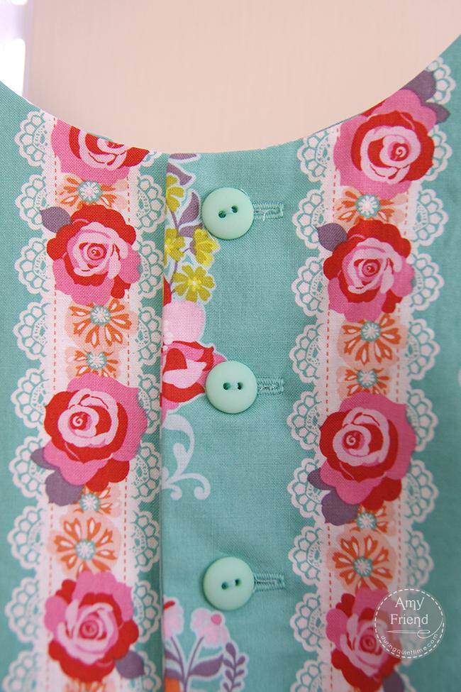 geranium dress detail