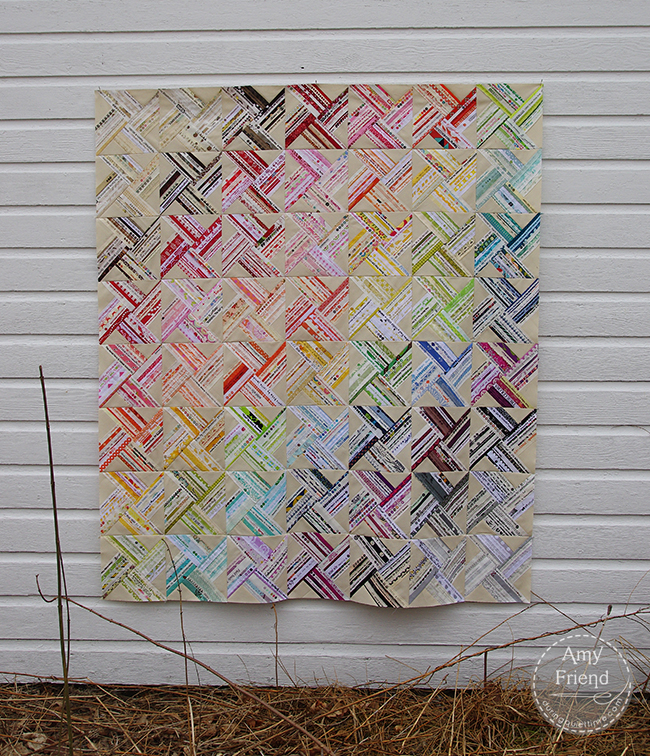 Selvage Whirlwind Quilt Top by Amy Friend