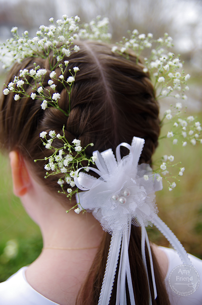First Communion, Hair with Baby's Breath