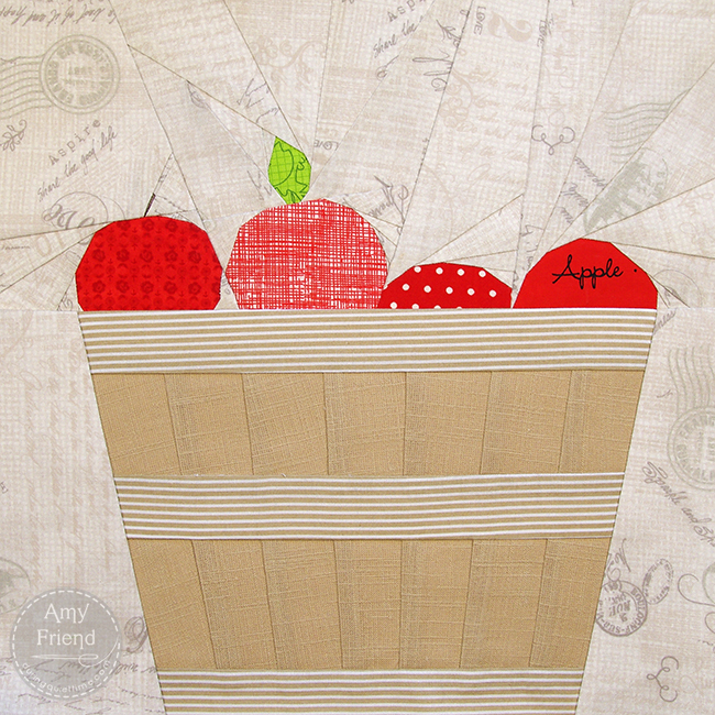 Bushel Basket of Apples by Amy Friend