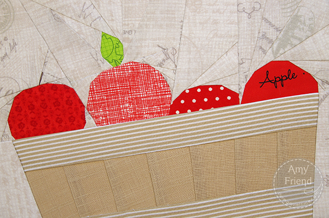 Bushel Basket of Apples Detail by Amy Friend