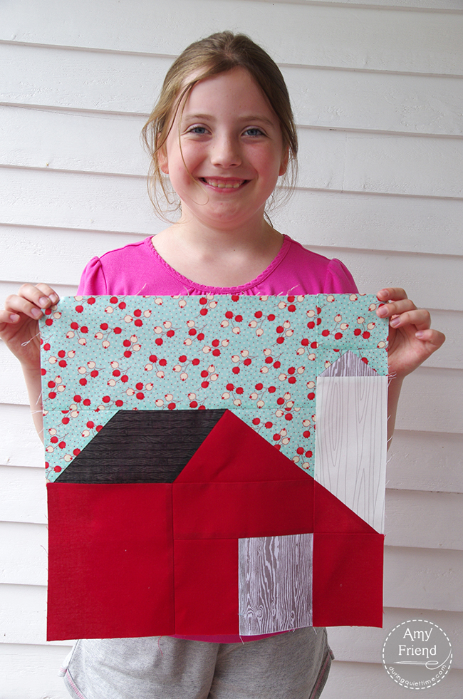 Lily with Barn Block