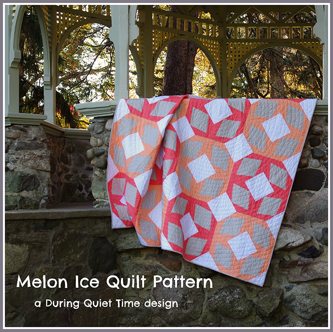 Melon Ice Quilt Pattern by Amy Friend