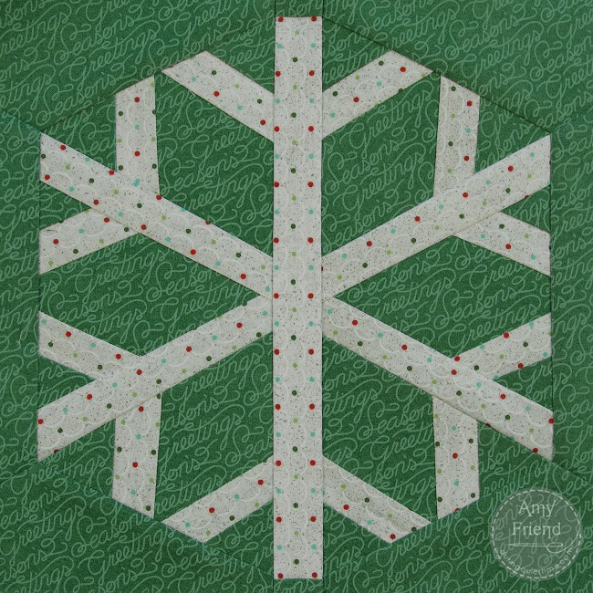 Snowflake Paper Pieced Pattern by Amy Friend