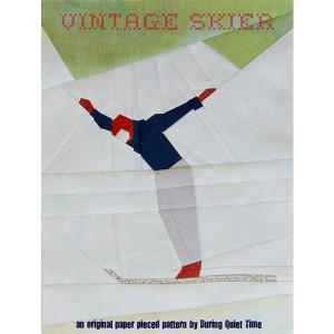 Vintage Skier Pattern Coverc