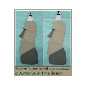 Easter Island Moai Paper Pieced Pattern Cover