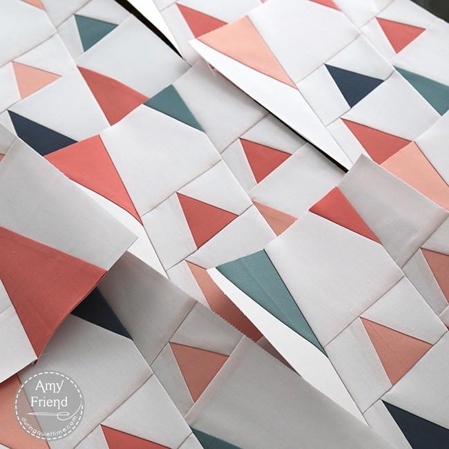 Triangles WIP by Amy Friend