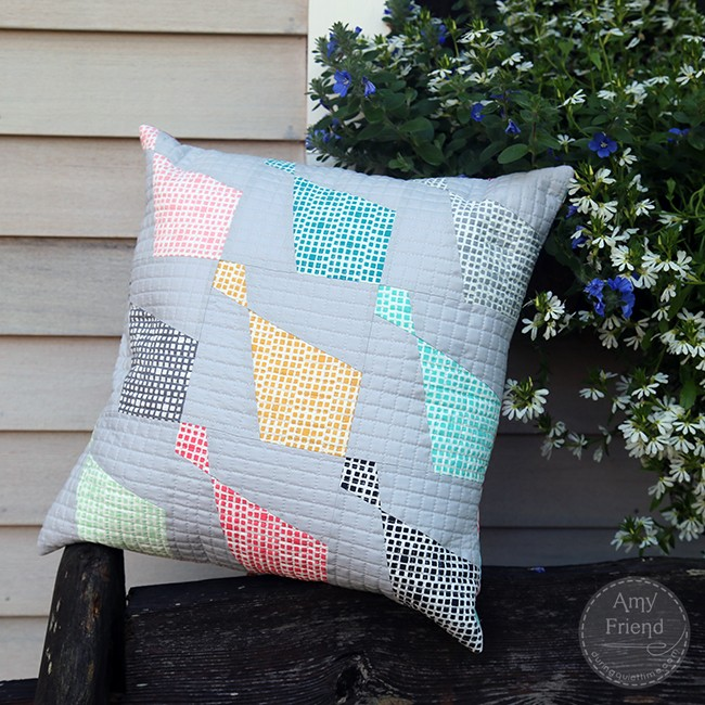 Squared Elements Haberdashery Pillow by Amy Friend