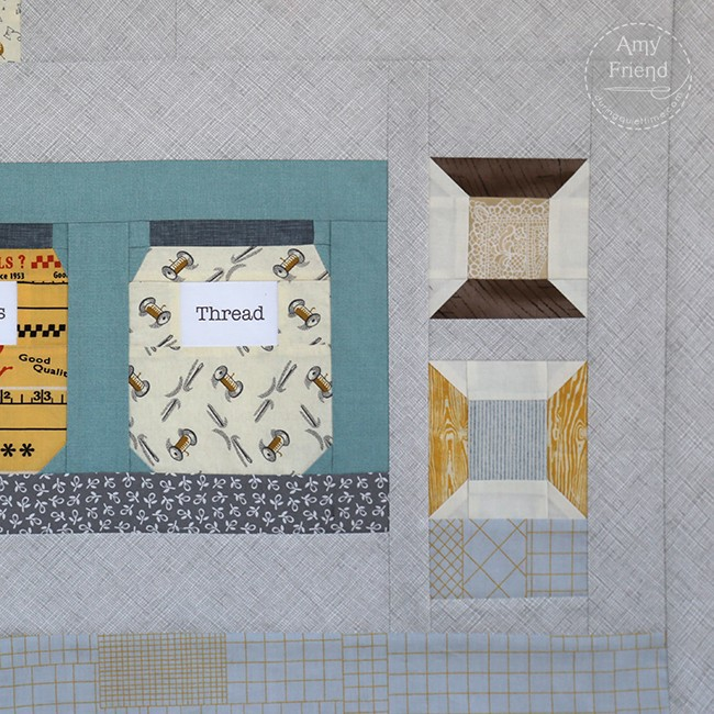 Maker Quilt Detail by Amy Friend