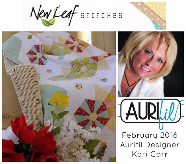 Aurifil 2016 Design Team February Kari Carr