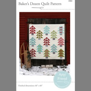 bakers dozen quilt pattern by Amy Friend