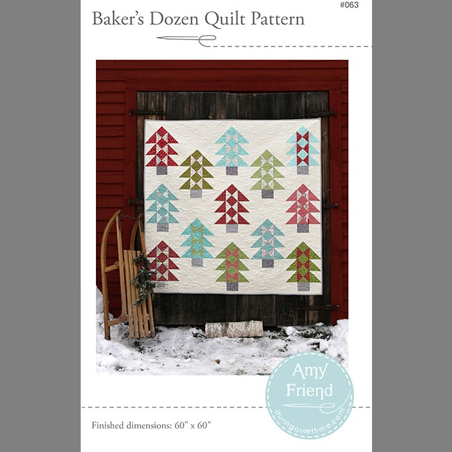 bakers dozen quilt pattern by Amy Friend