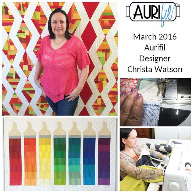 Aurifil 2016 Design Team March Christa Watson collage