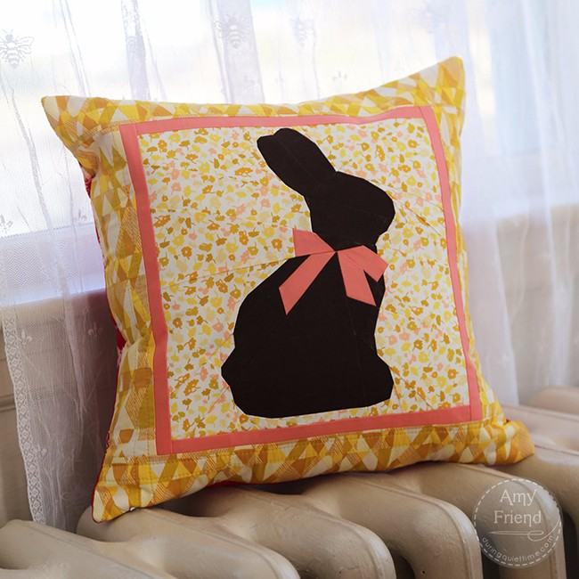 Chocolate Bunny Pillow by Amy Friend