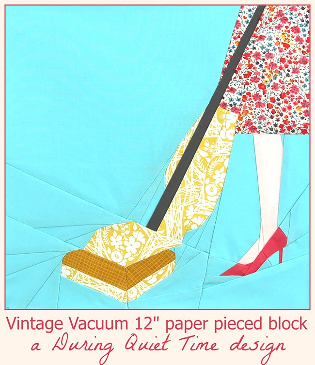 Vintage Vacuum Paper Pieced Block by Amy Friend