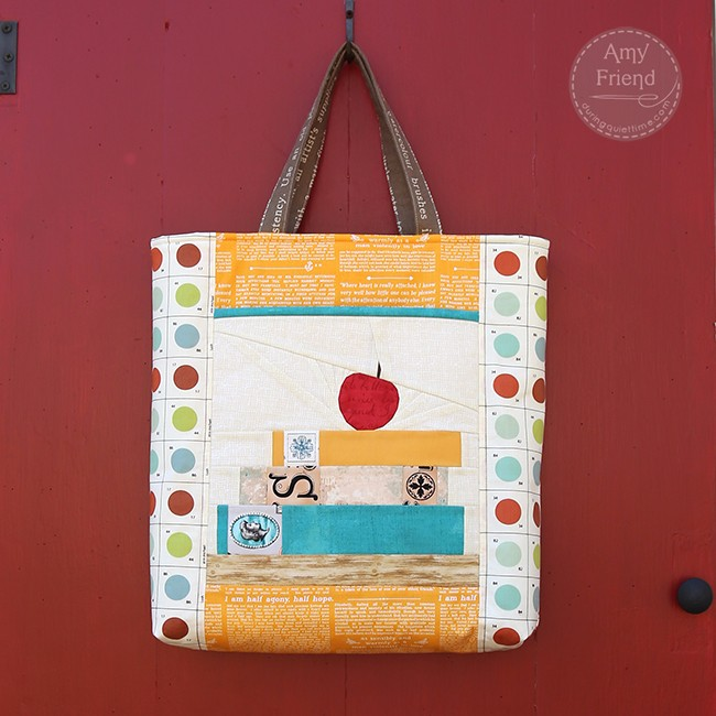 Stash Happy Tote with Teacher's Pet Block by Amy Friend