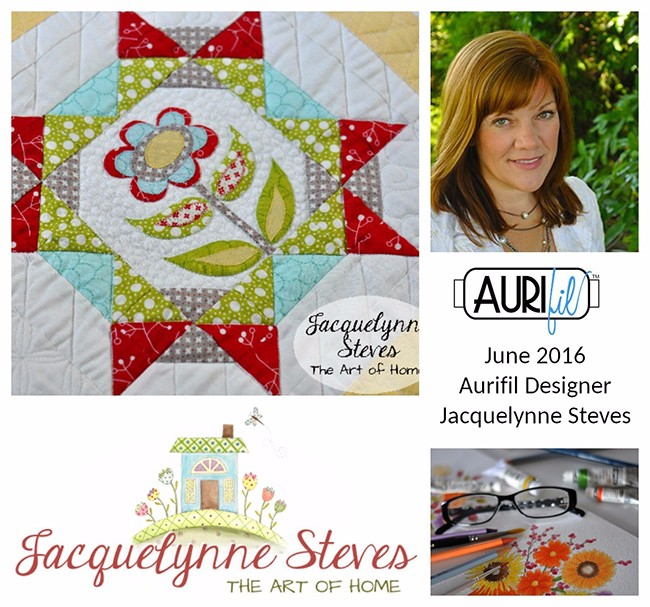 Aurifil 2016 Design Team June Jacquelynne Steves collage