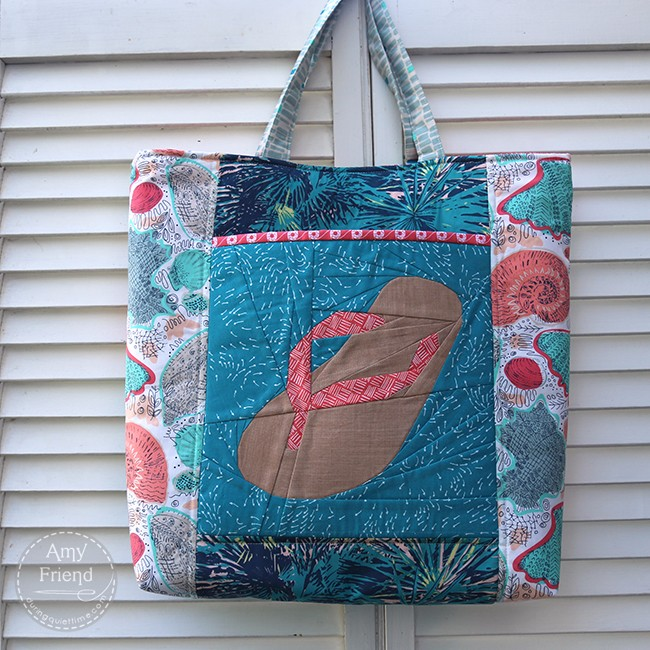 Flip Flop Stash Happy Tote by Amy Friend