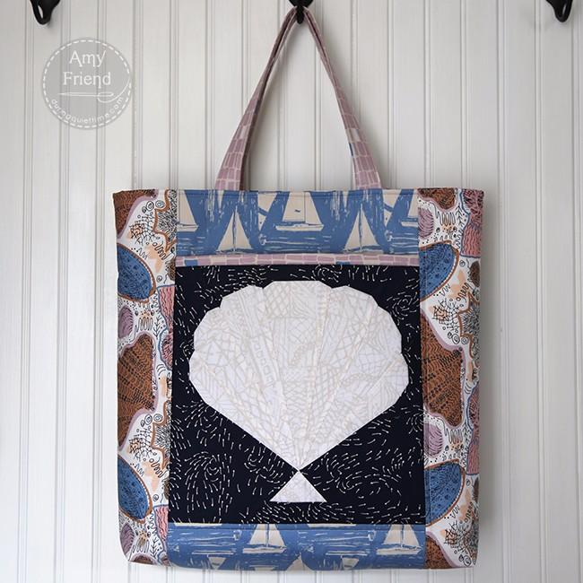 Scallop Stash Happy Tote by Amy Friend