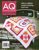<h5>American Quilter Jan. 2015</h5><p>My Baguette Quilt is featured in this issue.                                                                                                      </p>