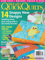 <h5>McCall&#039;s Quick Quilts</h5><p>I have a patchwork pillow in this issue, as shown on the cover in the lower left.</p>