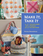 <h5>Make It, Take It</h5><p>I have two projects in this book-a paper pieced pillow shown on the cover, and a patchwork scissor keeper.</p>