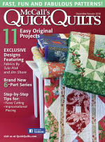 <h5>McCall's Quick Quilts Dec/Jan</h5><p>My Village Street Quilt Pattern can be found in this magazine.                                                    </p>