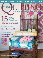 <h5>McCall&#039;s Quilting</h5><p>Flashing Lights quilt is featuring using Kate Spain&#039;s Canyon for Moda.</p>