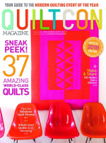 <h5>QuiltCon Magazine, 2018</h5><p>This issue includes the pattern for my Agave quilt and features my Negativity quilt, as well.</p>
