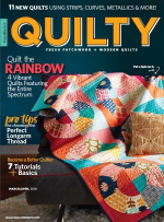 <h5>Quilty March/April 20018</h5><p>My Cubemate quilt pattern can be found in this issue.                                                   </p>