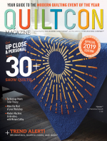 <h5>QuiltCon Magazine 2019</h5><p>Article on Small Piecing, and photo of my Sophisticate Quilt                                                                                                      </p>