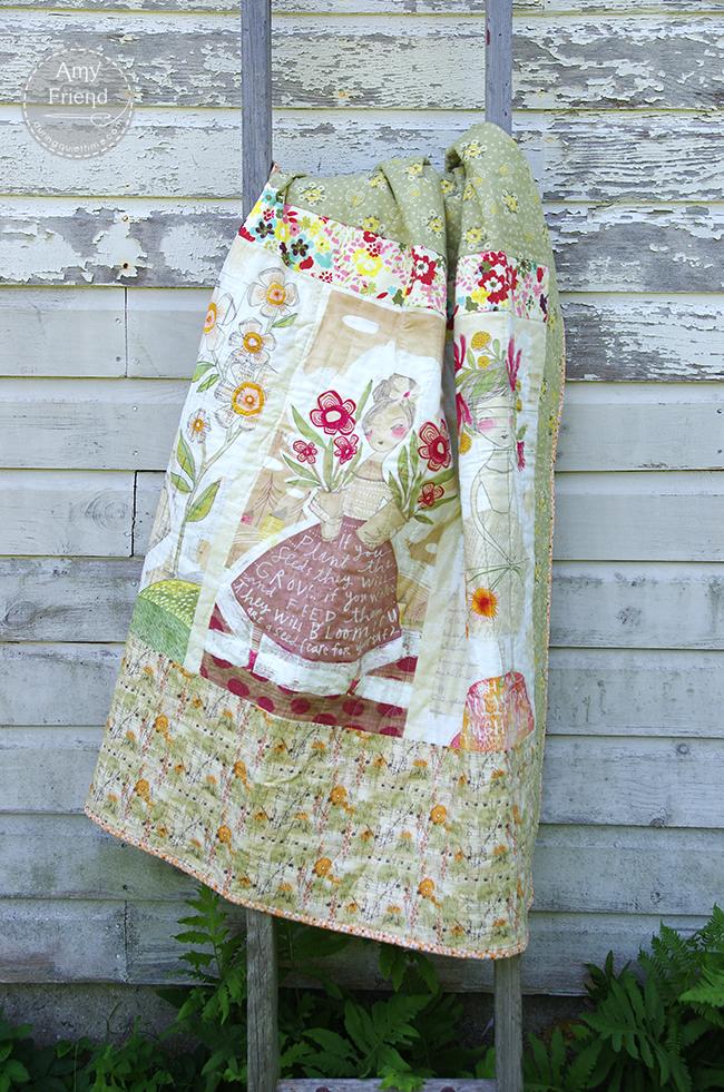 garden quilt back