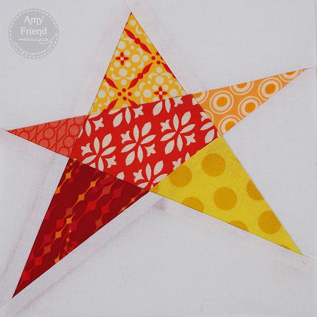 single confetti star block