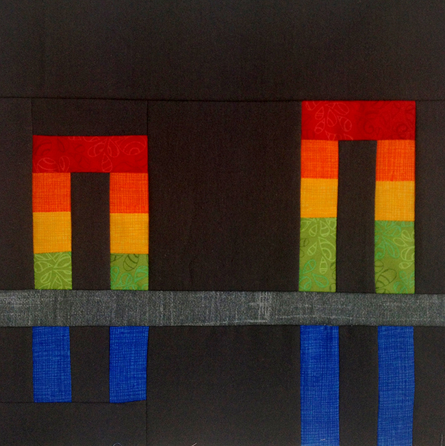 Rainbow Bridge quilt block