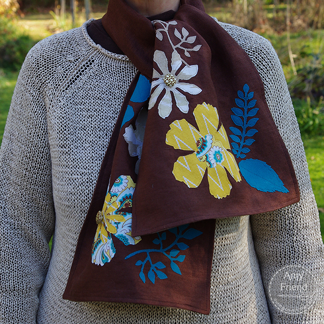 Tattered Florals scarf