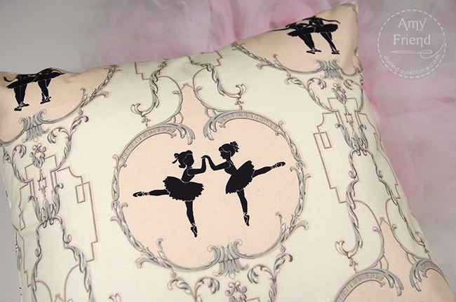 Ballerina Argyle Pillow Back