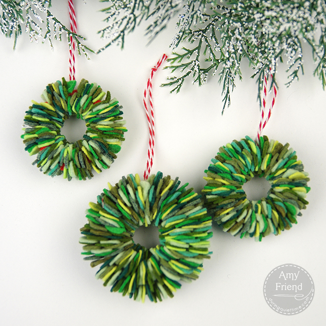 Felt wreaths 2
