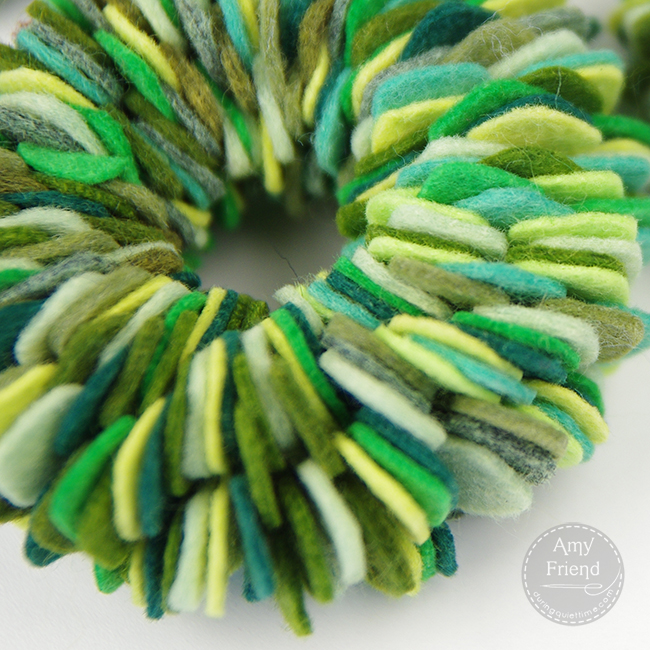 Felt wreaths 4