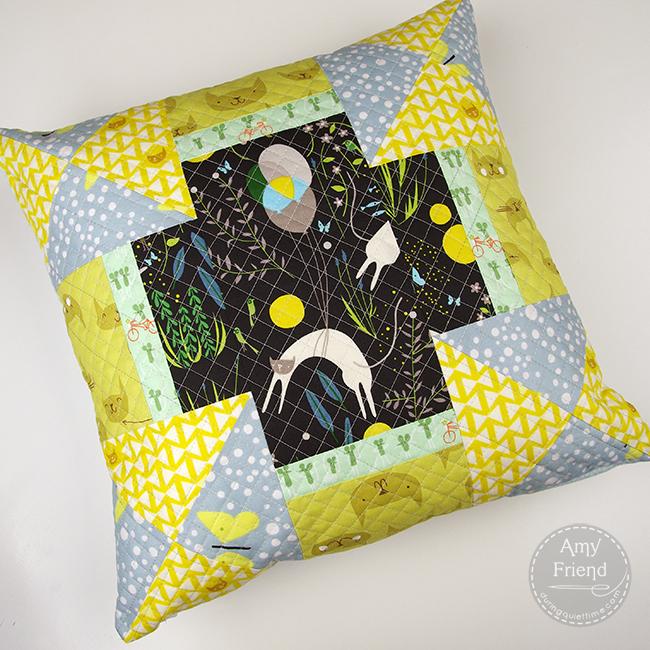 Catnap Patchwork Pillow