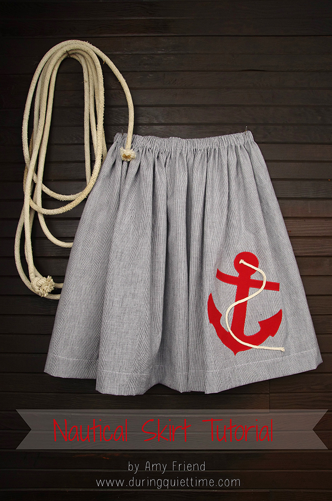 Nautical Skirt Tutorial by Amy Friend