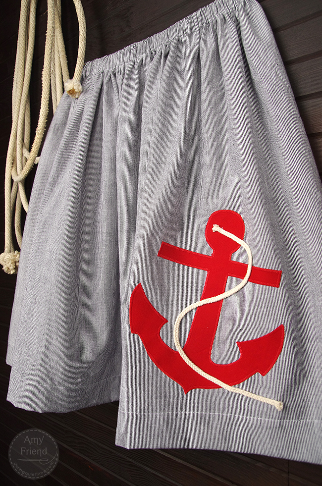 Nautical Skirt by Amy Friend